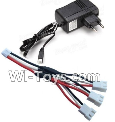 Wltoys A202 A212 A222 Charger & Upgrade 1-to-3 coversion Charging cable(1pcs),Wltoys A202 A212 A222 Parts