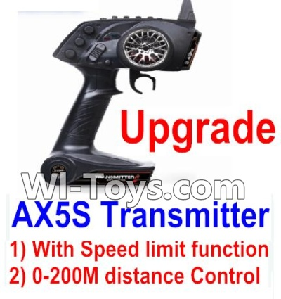 Wltoys A202 A212 A222 Upgrade AX5S Transmitter(With Speed Limit function,0-200M control),Wltoys A202 A212 A222 Parts