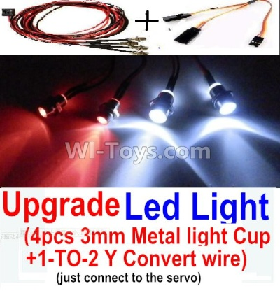 Wltoys A202 A212 A222 Upgrade LED Light set(Include the Upgrade LED light and 1-TO-2 Conversion wire),Wltoys A202 A212 A222 Parts