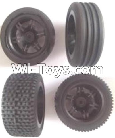Wltoys A303 Front and Rear wheel unit(Total 4pcs),Wltoys A303 Parts,Wltoys A303 RC Car Parts