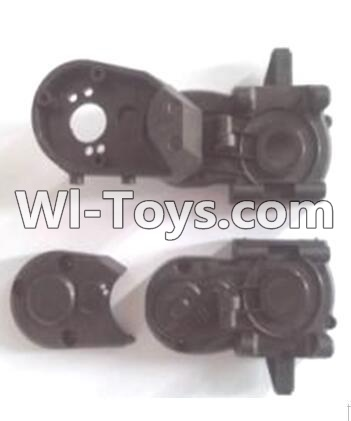 Wltoys A303 Gearbox unit(Upper and bottom Gear box cover & Dust cover),Wltoys A303 Parts,Wltoys A303 RC Car Parts
