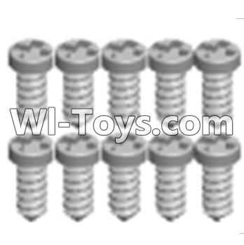 Wltoys A303 Cross recessed tapping round head screws Parts(M1.7X6 PB)-10PCS,Wltoys A303 Parts,Wltoys A303 RC Car Parts