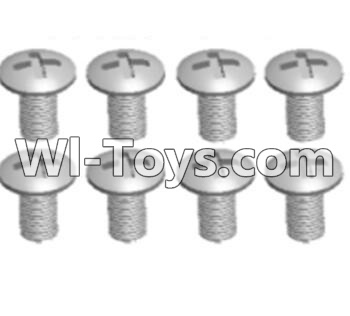 Wltoys A303 Cross recessed round head screws Parts(M3X14 PM)-8pcs,Wltoys A303 Parts,Wltoys A303 RC Car Parts