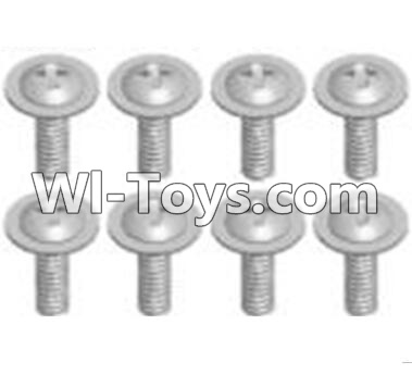 Wltoys A303 Cross recessed round head screws Parts(M2.6X6 PWB)-8pcs,Wltoys A303 Parts,Wltoys A303 RC Car Parts