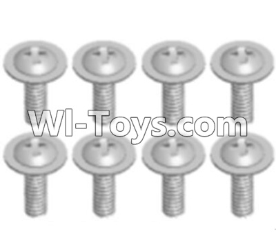 Wltoys A303 Round head screw with dielectric(M2.5X6X6)-8pcs,Wltoys A303 Parts,Wltoys A303 RC Car Parts