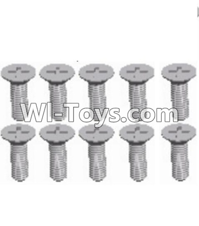 Wltoys A303 L959-54 Countersunk head self tapping screw(M2.6X8)-10pcs,Wltoys A303 Parts,Wltoys A303 RC Car Parts