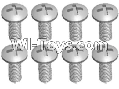 Wltoys A303 L959-57 Round head self tapping screw(M2.6X8)-10pcs,Wltoys A303 Parts,Wltoys A303 RC Car Parts