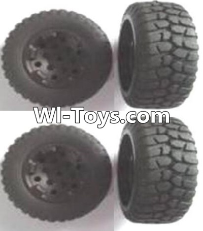 Wltoys A313 Front and Rear wheel unit Parts-(Total 4pcs),Wltoys A313 Parts