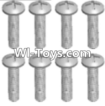 Wltoys A313 Round head tapping screw(M2.6X16 PB)-8pcs,Wltoys A313 Parts