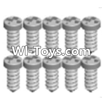 Wltoys A313 Cross recessed tapping round head screws Parts(M1.7X6 PB)-10PCS,Wltoys A313 Parts