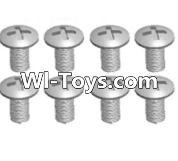 Wltoys A313 Cross recessed round head screws Parts(M3X14 PM)-8pcs,Wltoys A313 Parts