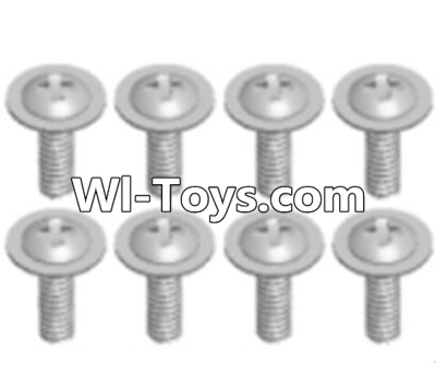 Wltoys A313 Round head screw with dielectric(M2.5X6X6)-8pcs,Wltoys A313 Parts