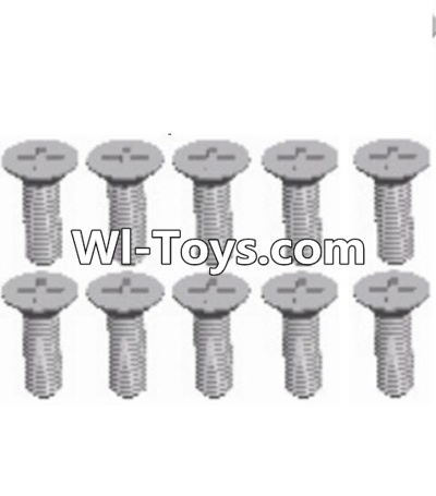 Wltoys A313 L959-54 Countersunk head self tapping screw(M2.6X8)-10PCS,Wltoys A313 Parts