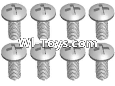 Wltoys A313 L959-57 Round head self tapping screw(M2.6X8)-10PCS,Wltoys A313 Parts