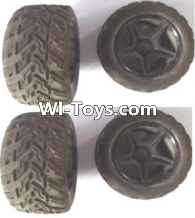 Wltoys A323 Front and Rear wheel unit Parts-(Total 4pcs),Wltoys A323 Parts