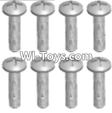 Wltoys A323 Round head tapping screw(M2.6X16 PB)-8pcs,Wltoys A323 Parts