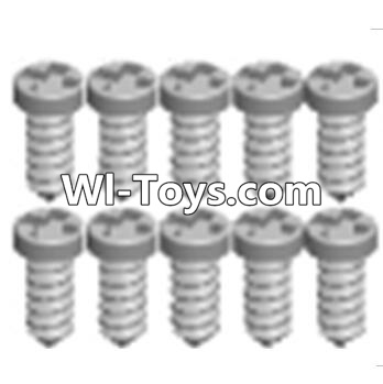 Wltoys A323 Cross recessed tapping round head screws Parts(M1.7X6 PB)-10PCS,Wltoys A323 Parts
