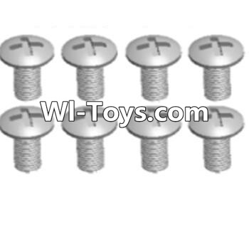 Wltoys A323 Cross recessed round head screws Parts(M3X14 PM)-8pcs,Wltoys A323 Parts