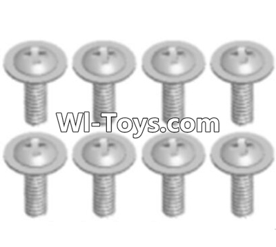 Wltoys A323 Round head screw with dielectric(M2.5X6X6)-8pcs,Wltoys A323 Parts