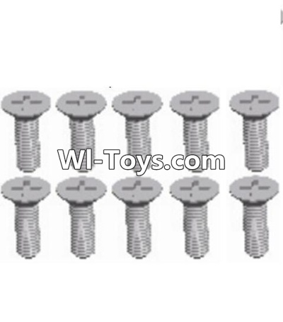 Wltoys A323 L959-54 Countersunk head self tapping screw(M2.6X8)-10PCS,Wltoys A323 Parts