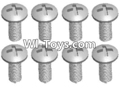 Wltoys A323 L959-57 Round head self tapping screw(M2.6X8)-10PCS,Wltoys A323 Parts
