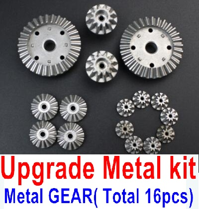 Wltoys A959B A959-B Upgrade Metal Kit-(Metal gear,total 16pcs),Can be used for A959 A959B A959-B