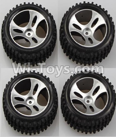 Wltoys A959B A959-B Wheel-Official Wheel Parts(2pcs Left and 2pcs Right Wheel),Wltoys A959B A959-B Parts