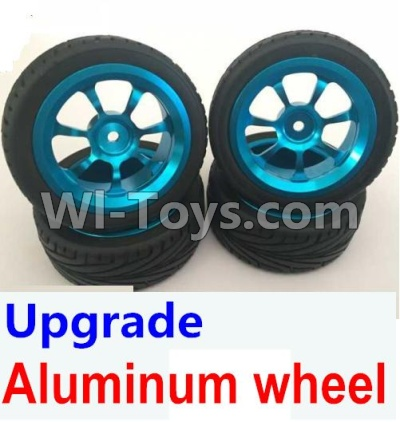 Wltoys A959B A959-B Upgrade Aluminum wheel(4pcs-Include the Tire leather,Also include the 7mm-to-12mm converter),Wltoys A959B A959-B Parts