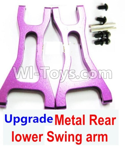 Wltoys A959B A959-B Upgrade Metal Rear lower Swing arm,Lower Suspension Arm(2pcs)-Purple Parts,Wltoys A959B A959-B Parts