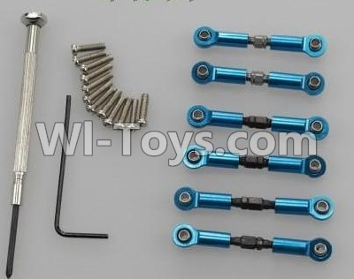 Wltoys A959B A959-B Upgrade Metal Connect buckle,Trolley(6pcs)-Blue Parts,Wltoys A959B A959-B Parts