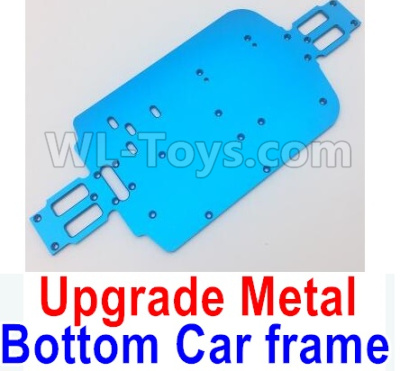 Wltoys A959B A959-B Upgrade Metal Bottom Car frame,Upgrade Metal Baseboard-Blue,Wltoys A959B A959-B Parts