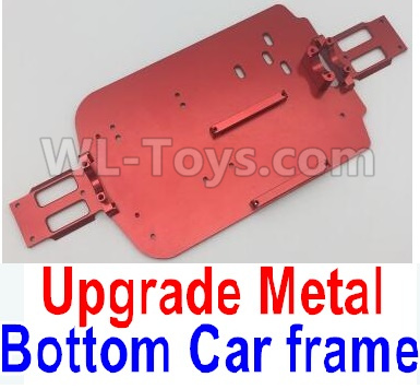 Wltoys A959B A959-B Upgrade Metal Bottom Car frame,Upgrade Metal Baseboard-Red,Wltoys A959B A959-B Parts