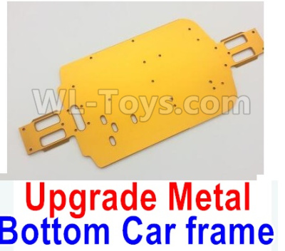 Wltoys A959B A959-B Upgrade Metal Bottom Car frame,Upgrade Metal Baseboard-Yellow,Wltoys A959B A959-B Parts