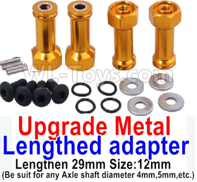 Wltoys K929-B Upgrade Metal Lengthed adapter Parts(4 set)-Lengthen 29mm-Yellow,Wltoys K929-B Parts