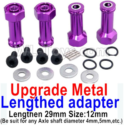 Wltoys A959B A959-B Upgrade Metal Lengthed adapter Parts(4 set)-Lengthen 29mm-Purple,Wltoys A959B A959-B Parts