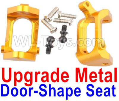 Wltoys A959B A959-B Upgrade Metal Door-Shape Seat Parts(2pcs)-Yellow,Wltoys A959B A959-B Parts