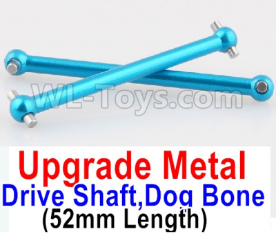 Wltoys A959B A959-B Upgrade Metal Drive Shaft,Dog Bone(2pcs)-Blue,Wltoys A959B A959-B Parts