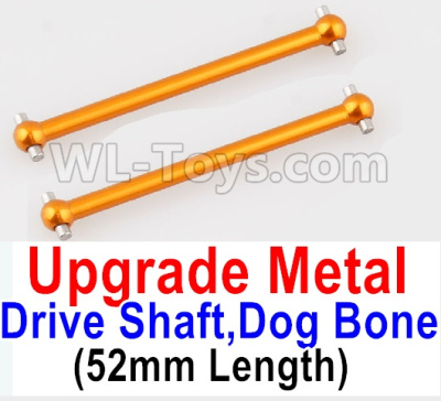 Wltoys A959B A959-B Upgrade Metal Drive Shaft,Dog Bone(2pcs)-Yellow,Wltoys A959B A959-B Parts