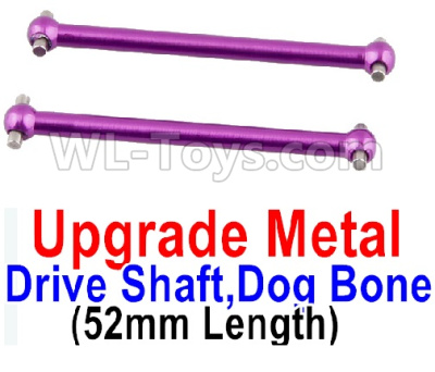 Wltoys A959B A959-B Upgrade Metal Drive Shaft,Dog Bone(2pcs)-Purple,Wltoys A959B A959-B Parts