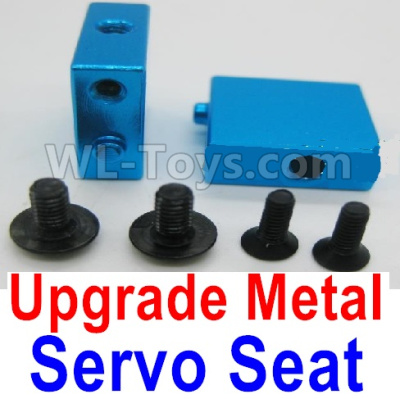 Wltoys A959B A959-B Upgrade Metal Servo Seat Parts-Blue,Wltoys A959B A959-B Parts