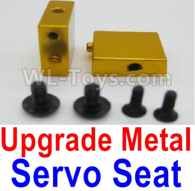 Wltoys A959B A959-B Upgrade Metal Servo Seat Parts-Yellow,Wltoys A959B A959-B Parts