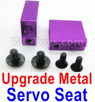 Wltoys A959B A959-B Upgrade Metal Servo Seat Parts-Purple,Wltoys A959B A959-B Parts