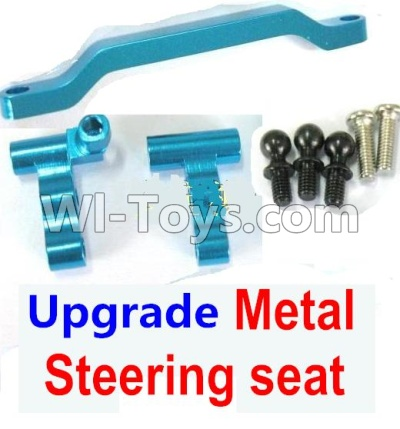 Wltoys A959B A959-B Ugrade Metal Steering seat-Blue Parts,Wltoys A959B A959-B Parts
