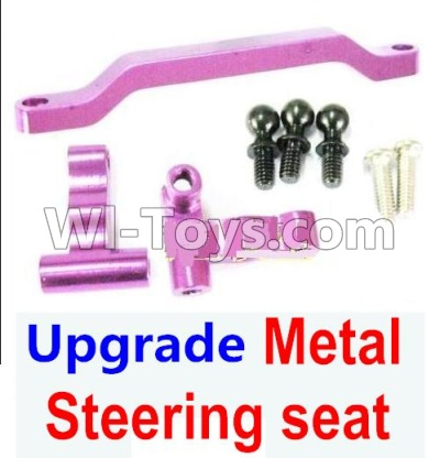 Wltoys A959B A959-B Ugrade Metal Steering seat-Purple Parts,Wltoys A959B A959-B Parts