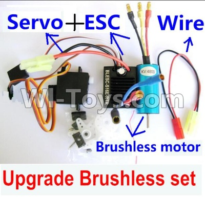 Wltoys A959B A959-B Upgrade Brushless Set(Include the Brushless motor,ESC,Servo,Conversion wire),Wltoys A959B A959-B Parts