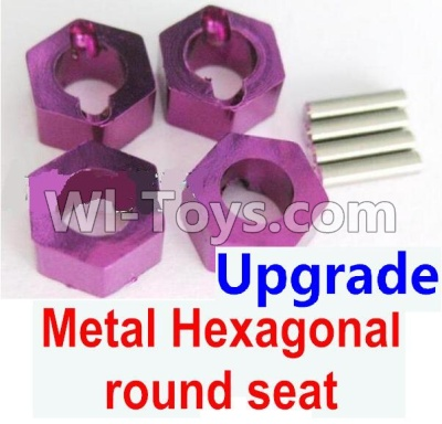 Wltoys A959B A959-B Upgrade Metal Hexagonal round seat(4pcs)-Purple Parts,Wltoys A959B A959-B Parts