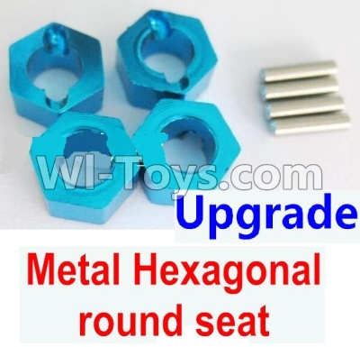 Wltoys A959B A959-B Upgrade Metal Hexagonal round seat(4pcs)(4pcs)-Blue Parts,Wltoys A959B A959-B Parts