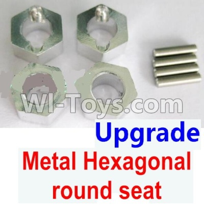 Wltoys A959B A959-B Upgrade Metal Hexagonal round seat(4pcs)(4pcs)-Silver Parts,Wltoys A959B A959-B Parts
