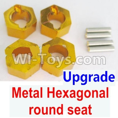 Wltoys A959B A959-B Upgrade Metal Hexagonal round seat(4pcs)(4pcs)-Yellow Parts,Wltoys A959B A959-B Parts