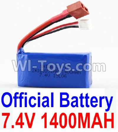 Wltoys A959B A959-B Battery-Official 7.4v 1400mah Battery with T-shape Plug Parts,Wltoys A959B A959-B Parts